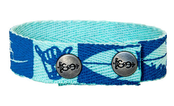 Blue Surf Snap Bracelet