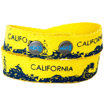 California Twill Wrap Bracelet