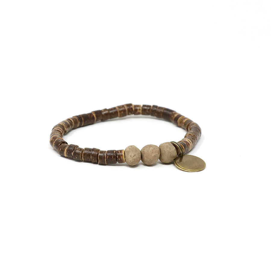 Tan Coconut Pipeline Bracelet