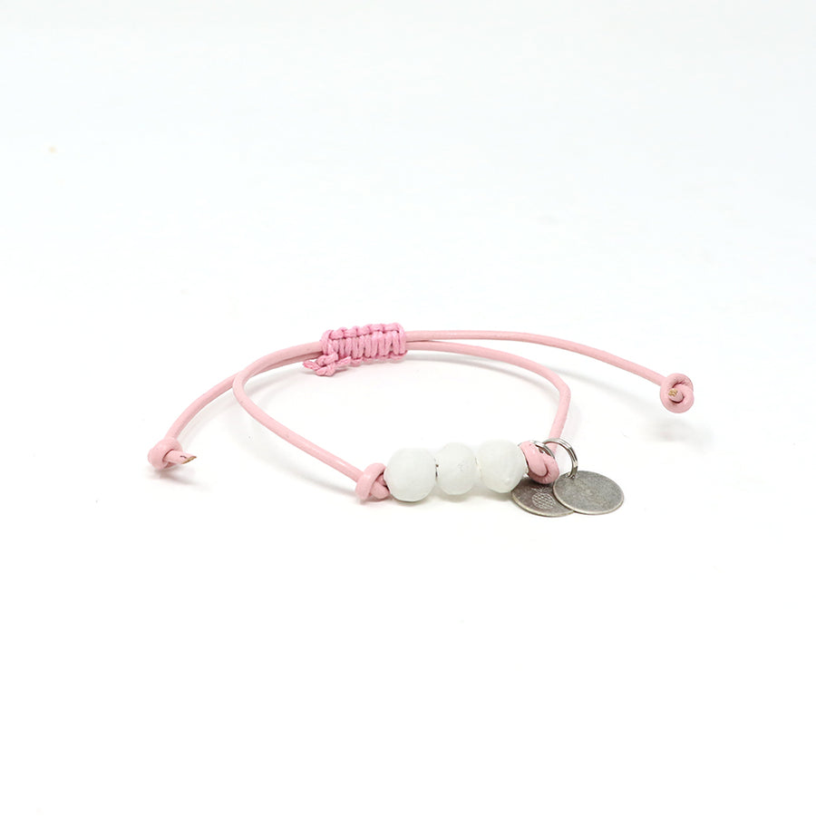 White Vegan Leather Pipeline Bracelet