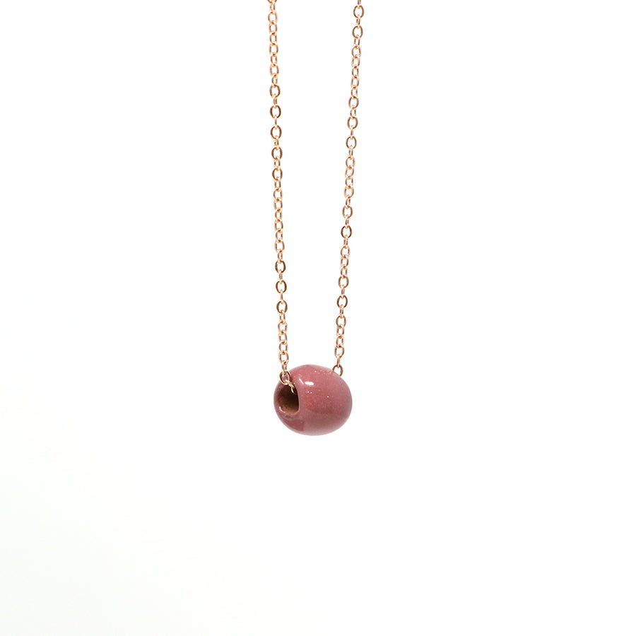 Wine Bead Necklace