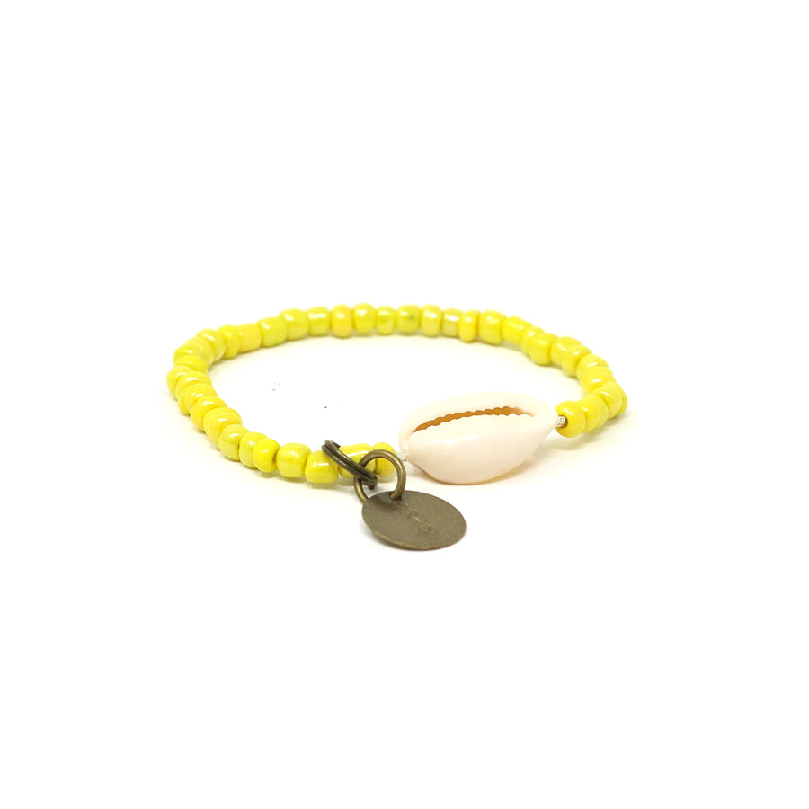 Yellow Cowrie Shell Bracelet