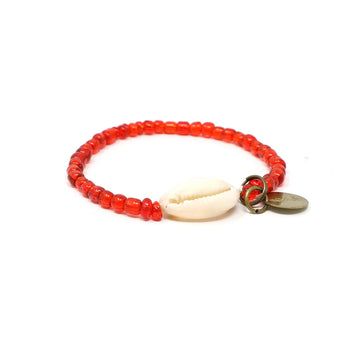 Red Cowrie Shell Bracelet