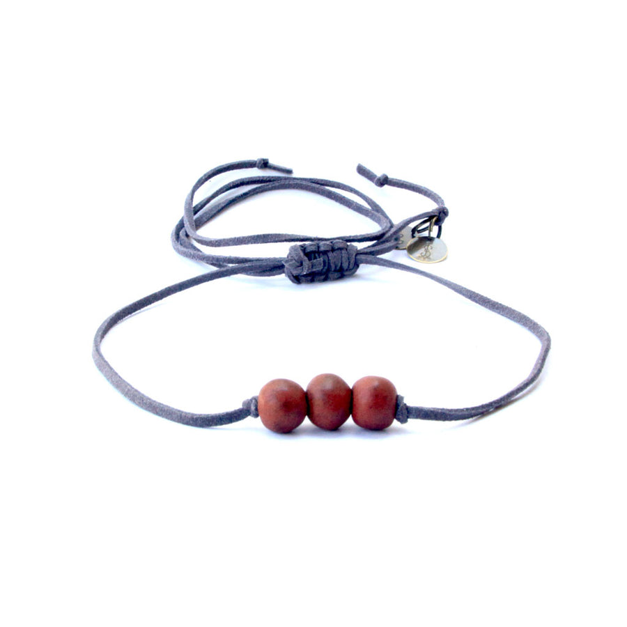 Rosewood Three Bead Choker
