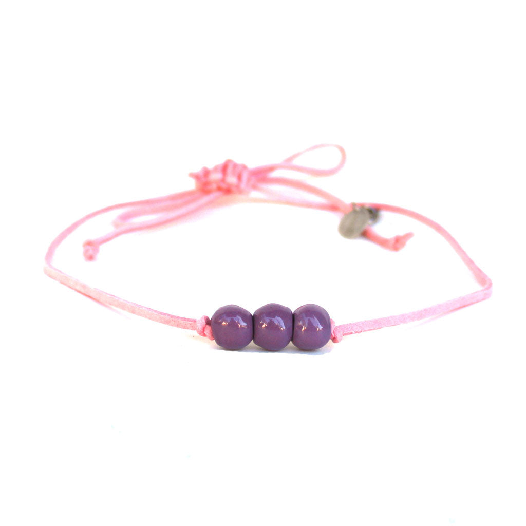 Violet Beaded Choker Necklace