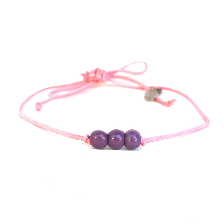 Violet Three Bead Choker