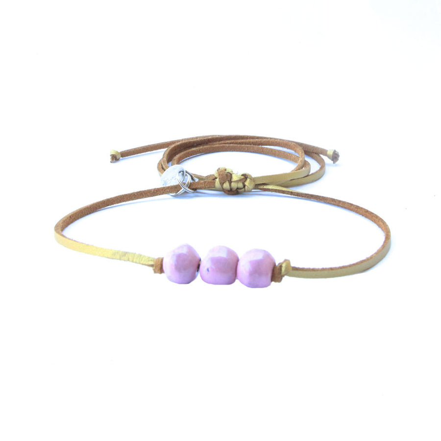 Mauve Three Bead Choker