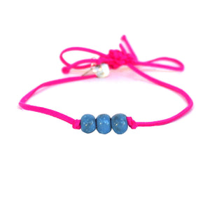 Alaskan Blue Beaded Choker Necklace