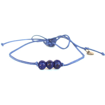 True Blue Three Bead Choker