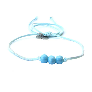 Aqua Three Bead Choker