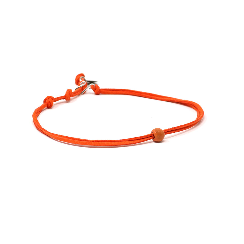 Bright Tangerine Beaded Choker Necklace