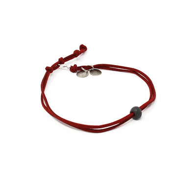 Lava Slate Bead Choker Necklace