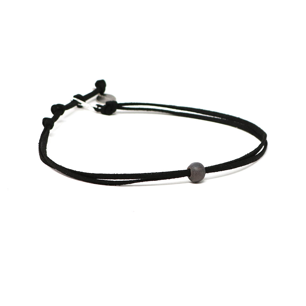 Lava Slate Beaded Choker Necklace
