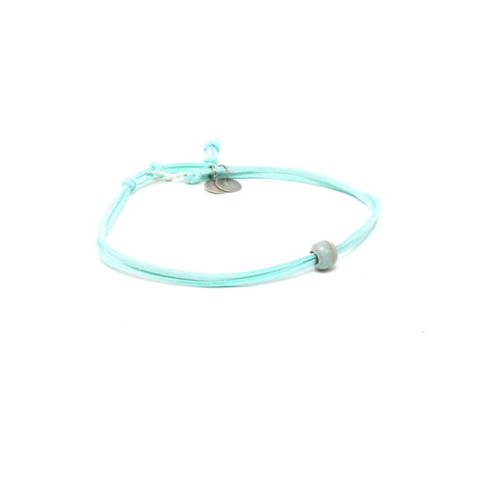 Seafoam Bead Choker Necklace