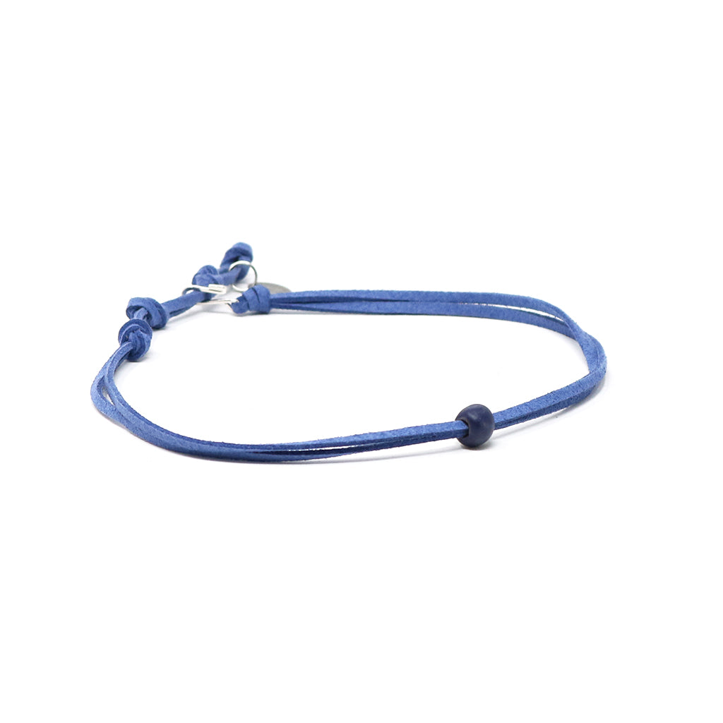 Indigo Beaded Choker