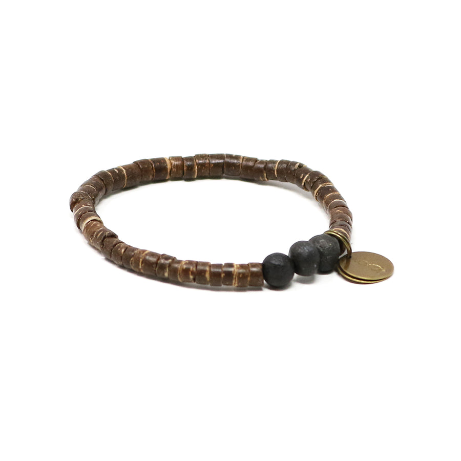 Fire Pit Black Coconut Pipeline Bracelet