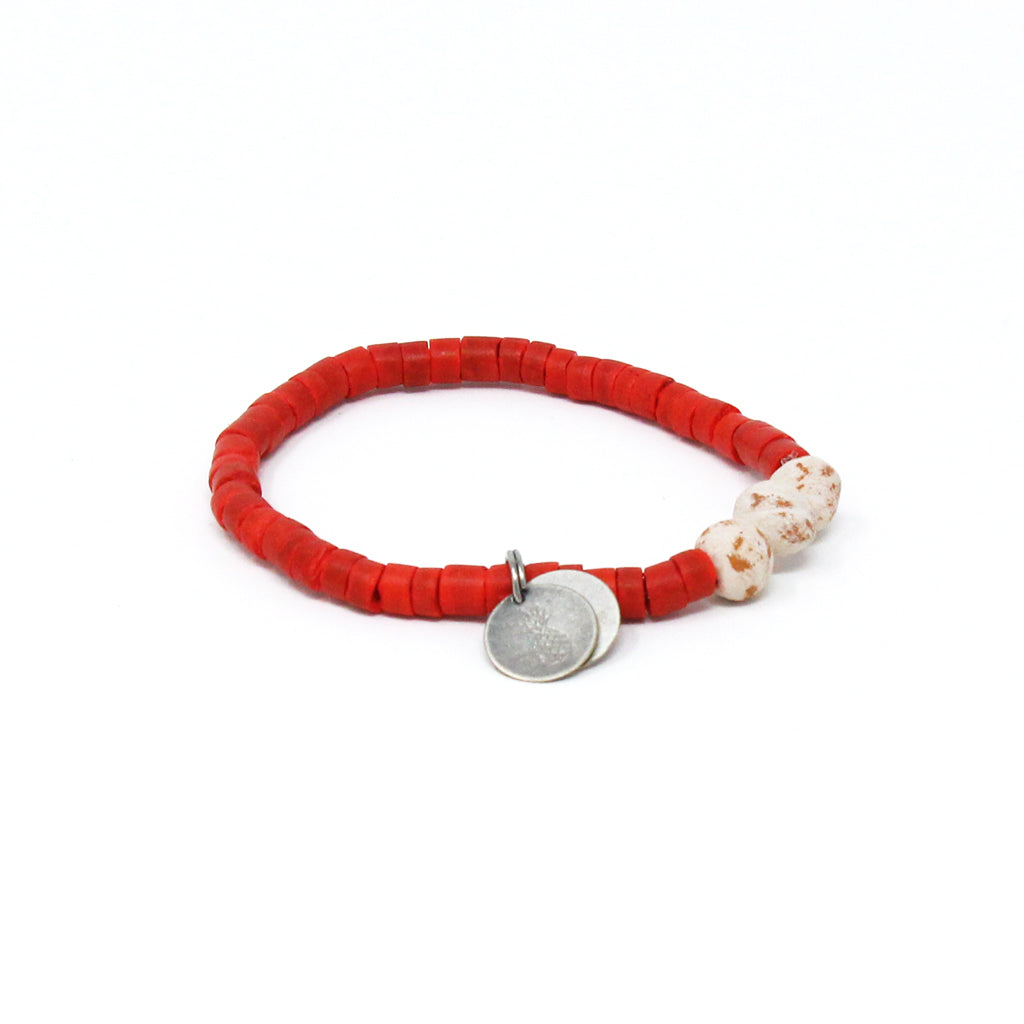 Cream Coconut Pipeline Bracelet