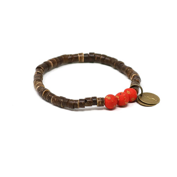 Candy Red Coconut Pipeline Bracelet