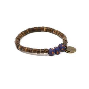 Dark Grape Coconut Pipeline Bracelet