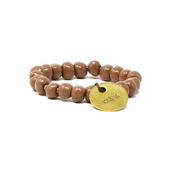 Bright Brown Charm Bracelet