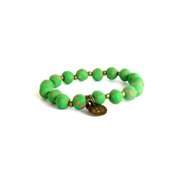 Kelly Green Charm Bracelet