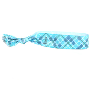 Blue Plaid Hair Bracelet