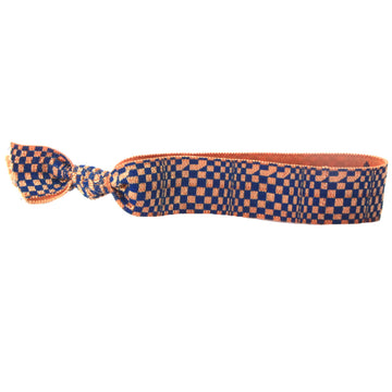 Dark Blue Check Hair Bracelet