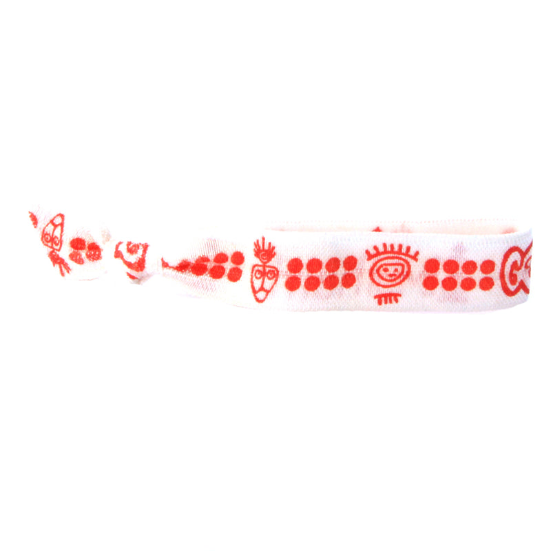 Red Makak Hair Bracelet