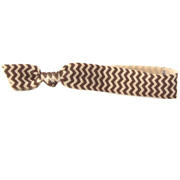 Brown Chevron Hair Bracelet