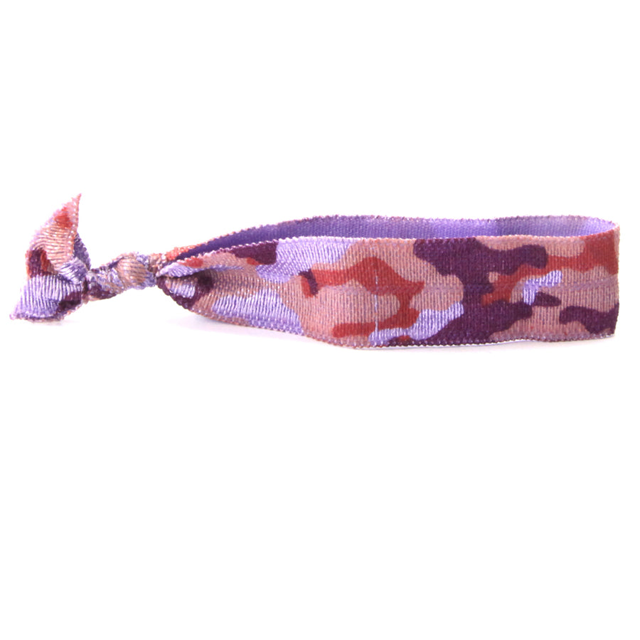 Purple Camo Hair Tie