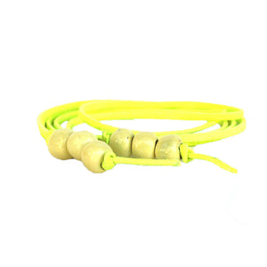 Lemon Yellow 5-in-1 Beaded Lariat Necklace