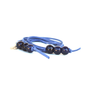 Sapphire 5-in-1 Beaded Lariat Necklace