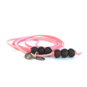 Lava Slate 5-in-1 Beaded Lariat Necklace