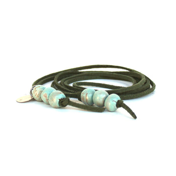 Seafoam Beaded Lariat
