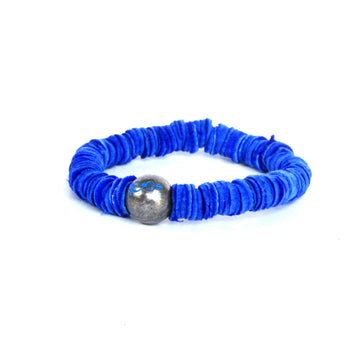 Indigo Blue Leather Bracelet