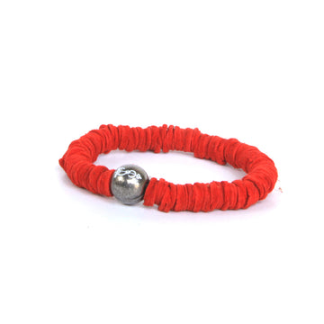 Rouge Red Leather Tassel Bracelet