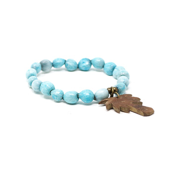 Turquoise Palm Tree Beaded Bracelet