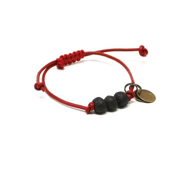 Fire Pit Black Vegan Leather Pipeline Bracelet