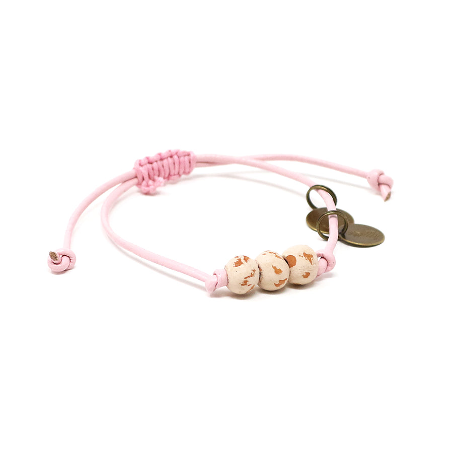 Cream Vegan Leather Pipeline Bracelet