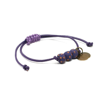 Dark Grape Vegan Leather Pipeline Bracelet