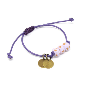 Lilac Vegan Leather Pipeline Charm Bracelet