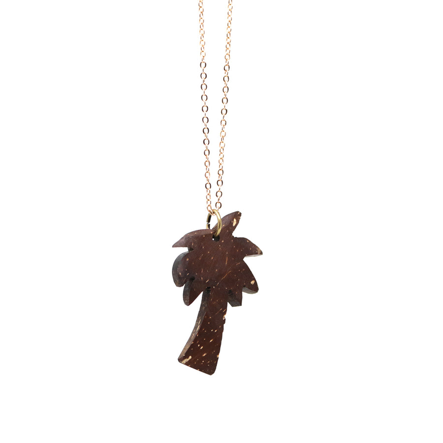 Rose Gold Coconut Palm Tree Necklace
