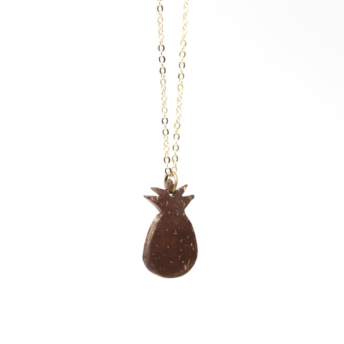 Gold Plated Coconut Pineapple Necklace
