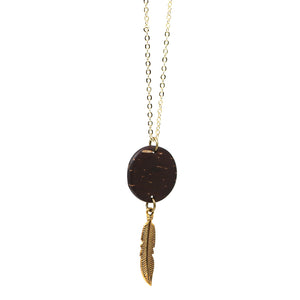 14k Gold Plated Feather
