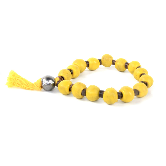 Yellow Tassel Clay Bracelet