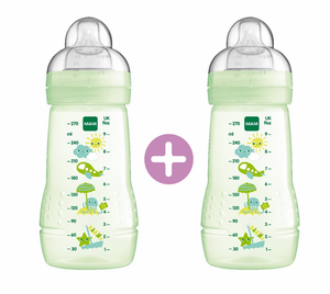 MAM Easy Active Baby Feeding Bottle 270ml - Double Pack