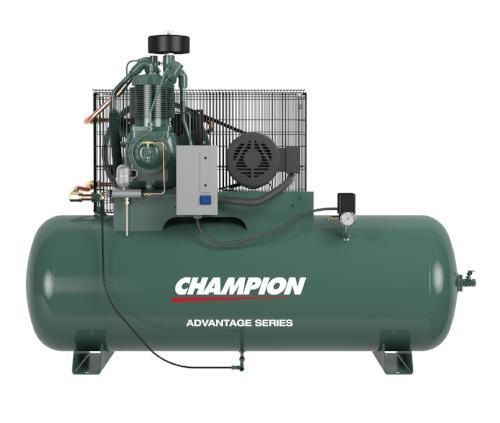 Champion 7.5hp Horizontal Air Compressor (Free Freight) - MotorcycleLifts.com