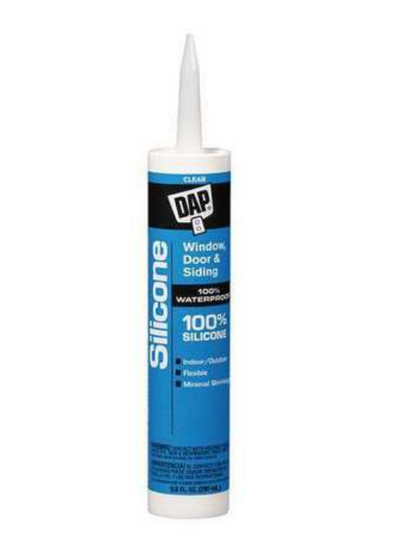 Clear Rubber Sealant, Silicone, 9.8 oz. Cartridge
