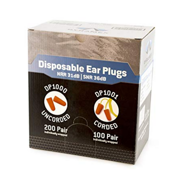 Pyramex Disposable Uncorded Earplugs - 200 Pair Per Box