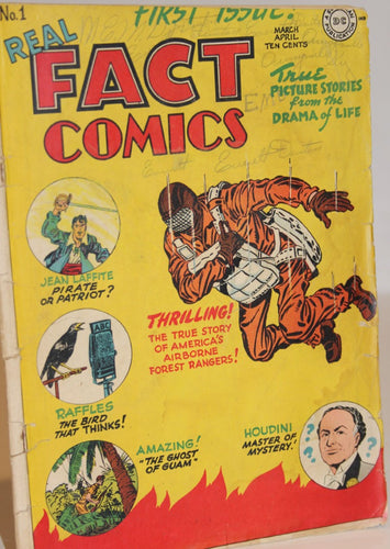 Real Fact Comics NO. 1  (Features Houdini)